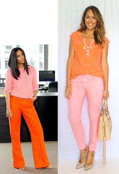Neon outfit with a monochromatic feel