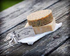 Lemongrass Poppyseed Goat's Milk Soap by PrickerPatchFarm on Etsy