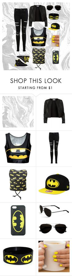 """""""Batman-Wannabe Starter Pack"""" by crazy-wild-ninja ❤ liked on Polyvore featuring Maglie I Blues, Miss Selfridge, Converse and Calvin Klein"""