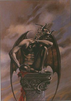 Images from other worlds, other dimensions and other times. Fantasy Demon, Fantasy Art Men, Fantasy Images, Zodiac Wheel, Traditional Witchcraft, Angels And Demons, Fallen Angels, Arte Obscura, Skull Art