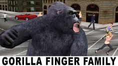 Finger Family Song - KingKong Gorilla Singing Children Songs - Finger Fa...