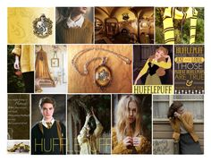 """""""Hufflepuff"""" by shaans ❤ liked on Polyvore featuring art, hogwarts, Hufflepuff and hogwartshouses"""