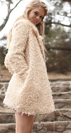 Outfits styled with Fall shades of oatmeal, camel & taupe prove that Beige is anything but boring! #fashionfiend #fall #winter✨ Jane Spring |  Kelli Couture Wild Vegan Fur Jacket