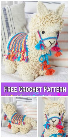 Crochet Llama Toy Plush Amigurumi Kostenlose Anleitungen & Bezahlt Häkeln Sie Lama-No-Drama Lama Spielzeug Plüsch Amigurumi kostenlose Muster Crochet Llama Toy Plush Amigurumi Free Patterns & Paid Source by DIYDailyMag Crochet Animal Patterns, Stuffed Animal Patterns, Crochet Patterns Amigurumi, Crochet Animals, Crochet Dolls, Amigurumi Toys, Crochet Teddy, Cute Crochet, Crochet Crafts