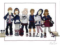 Children's Wear by Erica Garcia, via Behance