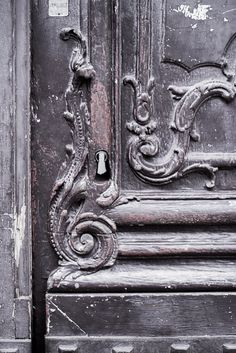Paris Fine Art Photograph  Title: Faded Grace    The beautifully-detailed doors of Paris are a wonderful photographic subject all on their own.