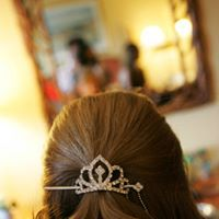Even the most simple hair accessory can have the most gorgeous, elegant effect! Loved doing this #halffuphair! #bridalstyle #halfuphair #princessclips - Photo by A peek behind the bridal-beauty scenes! Loved working with our #bride and #bridesmaids for the perfect #weddinglook! - Photo by Gene Higa