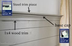 How to Cap Off a Wood Plank Wall with Decorative Trim | Beneath My Heart