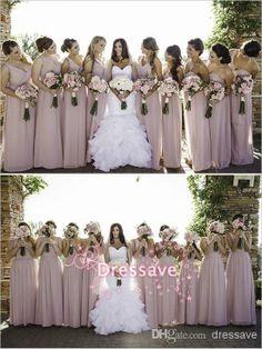 Beach Chiffon Bridesmaid Dresses One Shoulder A line Floor Length Sleeveless Cheap Summer Formal Wedding Party Gowns