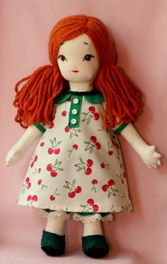 Caroline - handmade doll using a pattern by Jill Hamor from her new book, Storybook Toys