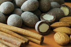 our chocolate covered cinnamon dusted almonds are to die for! comes in milk and dark chocolate