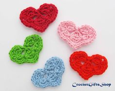 Pattern Crochet heart Valentine day Applique от crochetgiftsshop