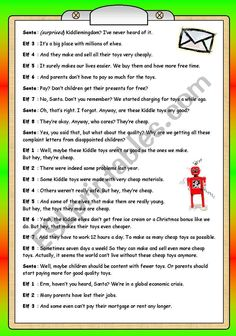 Short Plays Quality Alert at the North Pole - ESL worksheet by PhilipR Finger Song, English Games, North Pole, Christmas Humor, Winter Holidays, Make And Sell, Esl, Plays, Holiday Ideas