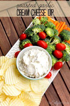 Roasted Garlic Cream Cheese Dip recipe