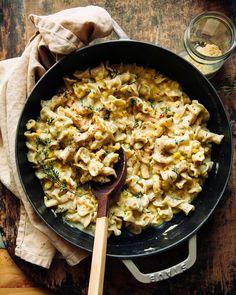 Healthy Pasta Recipes, Healthy Pastas, Vegetarian Recipes, Delicious Recipes, Tasty, Yummy Food, Creamy Corn, Vegan Creamy Pasta, Lemon Pasta