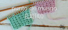 Muy fácil, plano (no se enrosca ni se dobla, así que va genial en una bufanda o en un cuello), para tejer prendas de chicos y de chicas: Punto de Musgo Elástico.