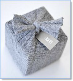 sweather wrapping ♥ http://felting.craftgossip.com/2013/12/03/a-cozy-christmas-gift-wrap/