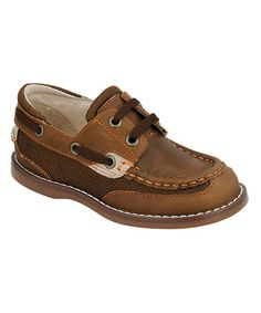 Take a look at this Brown & Orange Dock Boat Shoe by FootMates on #zulily today!