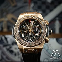 A bit of bling with the Hublot Big Bang Unico in King gold with a bezel of two rows of diamonds