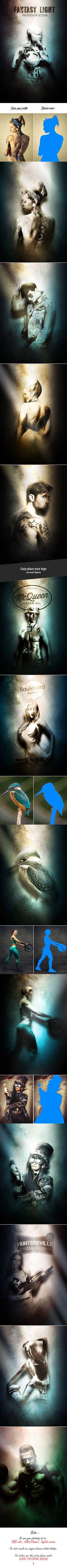 Fantasy Light - Photoshop Action. Download here: https://graphicriver.net/item/fantasy-light-photoshop-action/17681887?ref=ksioks