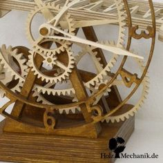 "Woodworking Projects Bench Electromechanical Wooden Rolling Ball Clock ""Serpina"" from Christopher Blasius.Woodworking Projects Bench Electromechanical Wooden Rolling Ball Clock ""Serpina"" from Christopher Blasius Intarsia Woodworking, Woodworking Joints, Woodworking Workbench, Woodworking Workshop, Woodworking Furniture, Woodworking Crafts, Woodworking Organization, Woodworking Quotes, Woodworking Machinery"