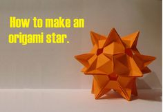 DYI: origami как сделать звезду.How to make an origami star.