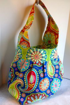 NEW Large over the shoulder tote in red by AnOrangeBlossomBag, $48.00