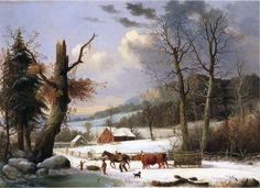 §§§ : Gathering Wood For Winter : George Henry Durrie : 1855