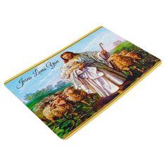 John 10:7-21 I Am the Good Shepherd Floor Mat - photos gifts image diy customize gift idea