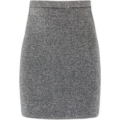 Alexander Wang Metallic knitted mini skirt found on Polyvore