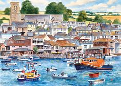Salcombe Harbour is our latest Terry Harrison jigsaw which captures the beauty of the Devonshire South Hams town that lies on the Salcombe estuary in an area known for its outstanding natural beauty, safe clean waters and abundance of sandy beaches. However, Salcombe was not always such a sought after tourist destination. In the 19th century, Salcombe was a major centre for shipping in the fruit trade and its vessels travelled as far as Iberia, the Mediterranean and the...