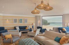 Ocean Room at Watergate Bay Hotel, Cornwall. Cornwall Hotels, Cornwall House, North Cornwall, Ocean Room, Playroom Furniture, Seaside Decor, Hotel Decor, Outdoor Furniture Sets, 1950s Furniture