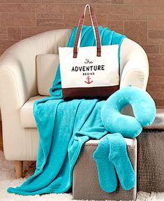 4-Pc. Cozy Plush Gift Tote Sets