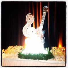 Ice Sculpture; Les Paul Exhibit Opening 6/8/13