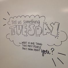 Tell us something Tuesday. Whiteboard morning work for upper elementary or middle school grades.
