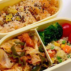 さつまいもが美味しい季節なので♡ - 9件のもぐもぐ - さつまいもご飯弁当 by arupaka3sei