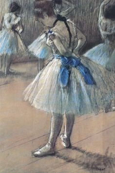 Degas did the most beautiful pieces of ballerinas.