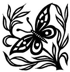 Scherenschnitte, Scherenschnitt und Schmetterling