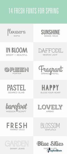 14 Fresh Spring Fonts Set