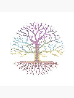 Cross Stitch Tree, Cross Stitch Patterns, Pattern Art, Pattern Design, Palestine Art, Cross Stitch Freebies, Book Markers, Bead Jewellery, C2c