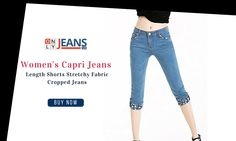 Women's - your week couldn't have started off on a more fashionable note...  ONLYJEANS's new stylish #capri #jeans are now available!  #Fashion #Trendy #Shopping
