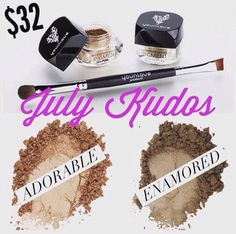 Click the photo and then kudos to get these TWO exclusive pigment colors and the liner/shader brush for only $32!