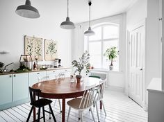 Bright white home with a vintage touch