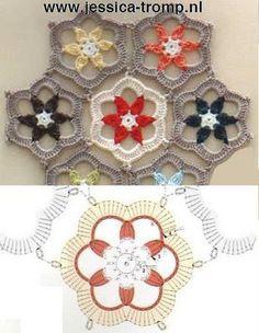 SANDRA PUNTOS ganchillo y de punto ...........: Flores Croche
