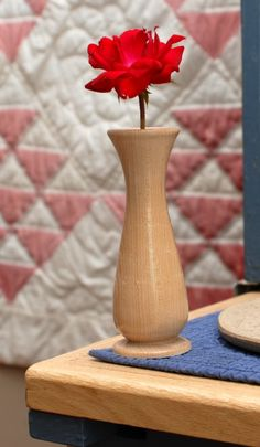 Wood turned bud vase in Maple Lathe Projects, Wood Turning Projects, Projects To Try, Bud Vases, Bird Houses, Bamboo, Hobbies, Workshop, Arts And Crafts