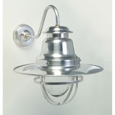 Quayside Wall Mounted Light this is made in the UK, and in silver works well inside. For the more traditional it comes in a choice of Blacks and Greys IP44 rated so a good nautical looking light for outside.