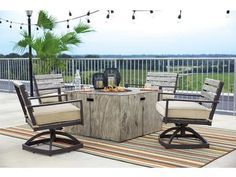 Create a great place to entertain in your backyard with this square fire pit table with tile-look surround. It features a CSA approved 30,000 BTU burner, glass stones and burner cover with easy access and adjustable flame control panel.
