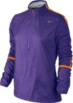 Nike Windbreaker Windproof Half Zip Mock Neck Pullover Jacket 582786 542