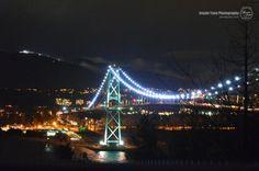 Night View of Lions Gate Bridge