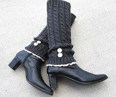 Hey, I found this really awesome Etsy listing at http://www.etsy.com/es/listing/110360647/dark-grey-knit-leg-warmers-boot-cuffs